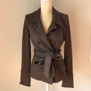 James Perse Peacoat sweater jacket size 2 brown